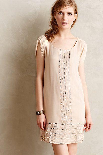 Mirror Trim Tunic Dress #anthrofav #greigedesign