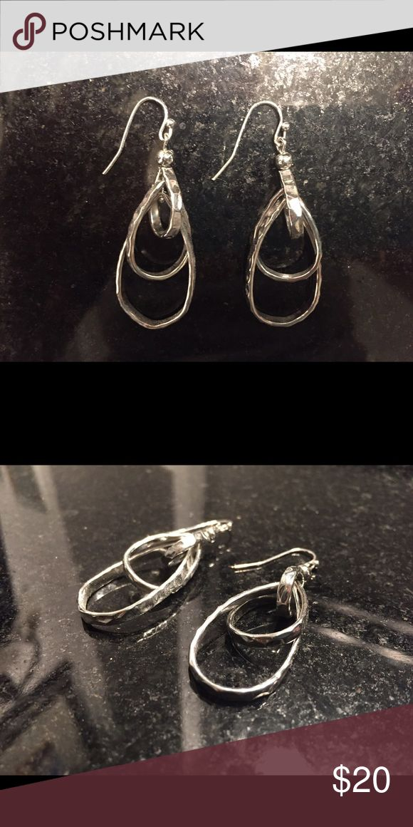 WEEKEND SALE! Silver earrings by Lia Sophia Silver earrings by Lia Sophia. No trades, make an offer, bundle to save! Lia Sophia Jewelry Earrings