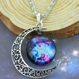 Cosmic Moon Aurora Necklace