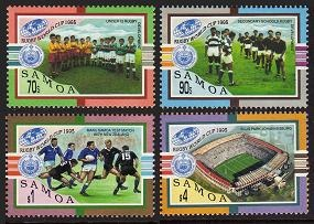 SAMOA - Scott 886-89 Rugby World Cup 1995  Another stamp from Herrick Stamp Company