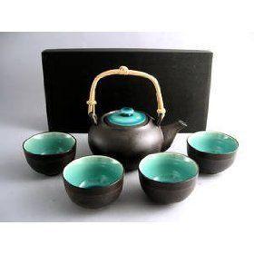 Japanese Ocean Blue Five Piece Teaset