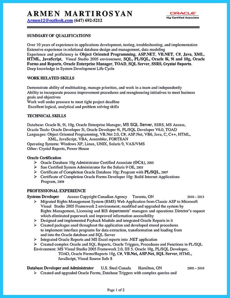 Corporate trainer resume can be in chronological or reverse - pl sql programmer sample resume