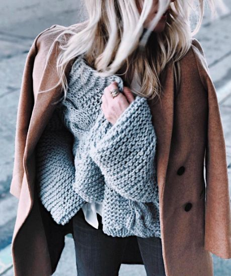 waffle knits + coats