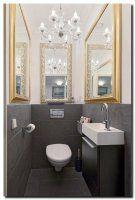 Slim om in een toilet ruimte zonder raam meerdere spiegels op te hangen.  Spiegels voor de inrichting van een ruimte zonder raam - barokspiegel.com