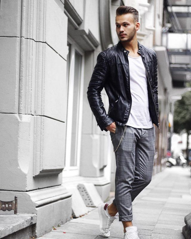 Style Tips For College Men 11 Practical Tips To Look Better Jackets Men Fashion Mens Jackets Black Leather Biker Jacket