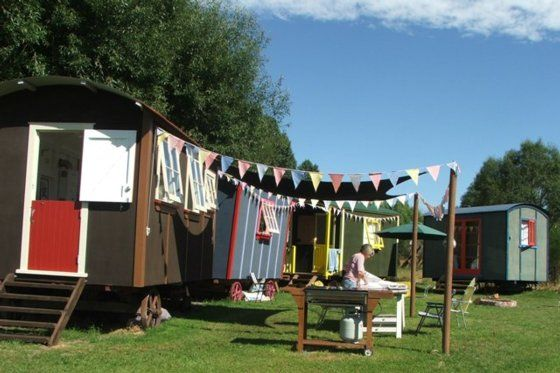 www.bookabach.co.nz/25124 Gypsy River Glamour Camping near Masterton - all the fun of camping without roughing it!