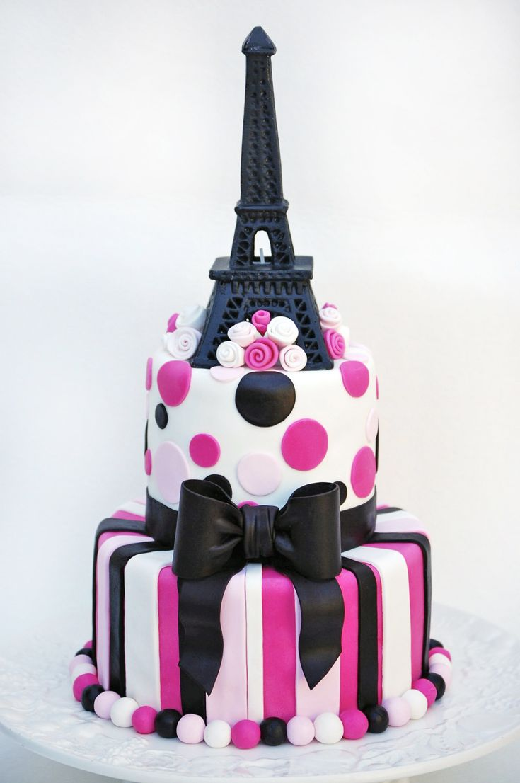 102 best Eiffel Tower cake ideas for Angeliques golden birthday