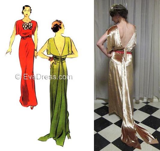 1930 Ladies' Evening Gown