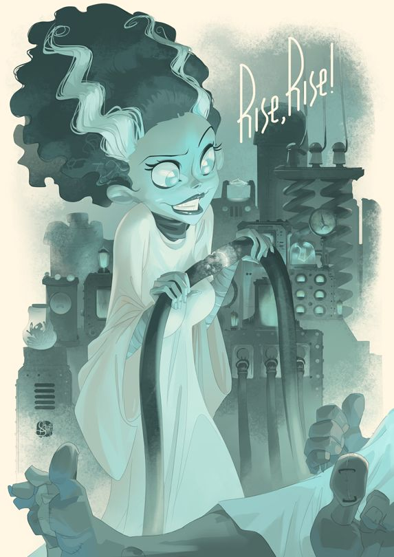 The Bride of Frankenstein by Otto Schmidt *