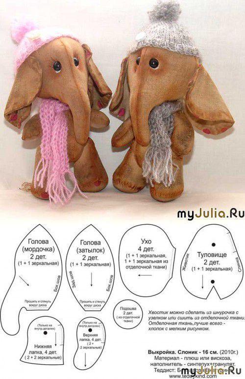 Мягкая игрушка слоник от Екатерины Беспаловой