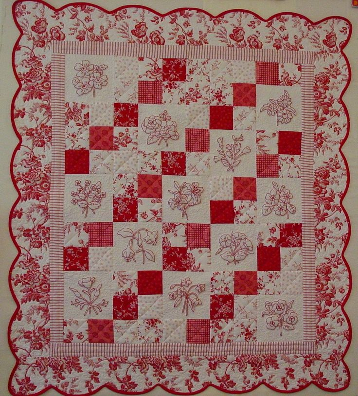 Alex Anderson Free Redwork Patterns | Alice's Looking Glass: Redwork Romance