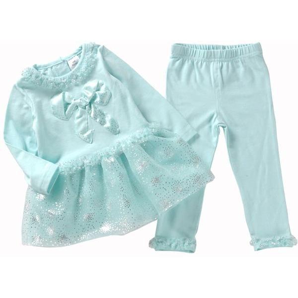 Baby Girl Clothes Set Lace Sequins Dresses Legging Pants Clothing Sets Boutique 2017