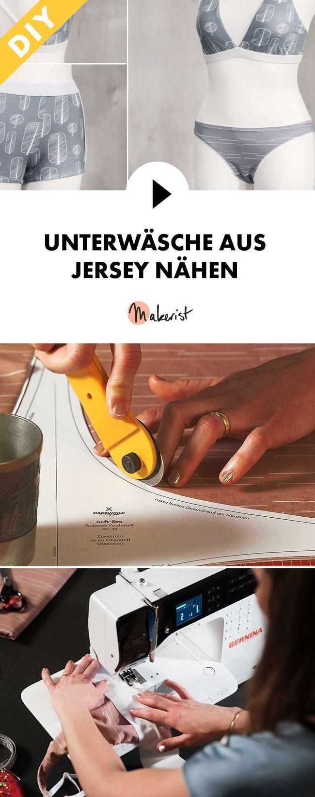 Unterwäsche aus Jersey selber nähen lernen - Schritt für Schritt erklärt im Video-Kurs via Makerist.de