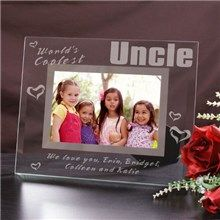 worlds coolest uncle personalized glass picture frames