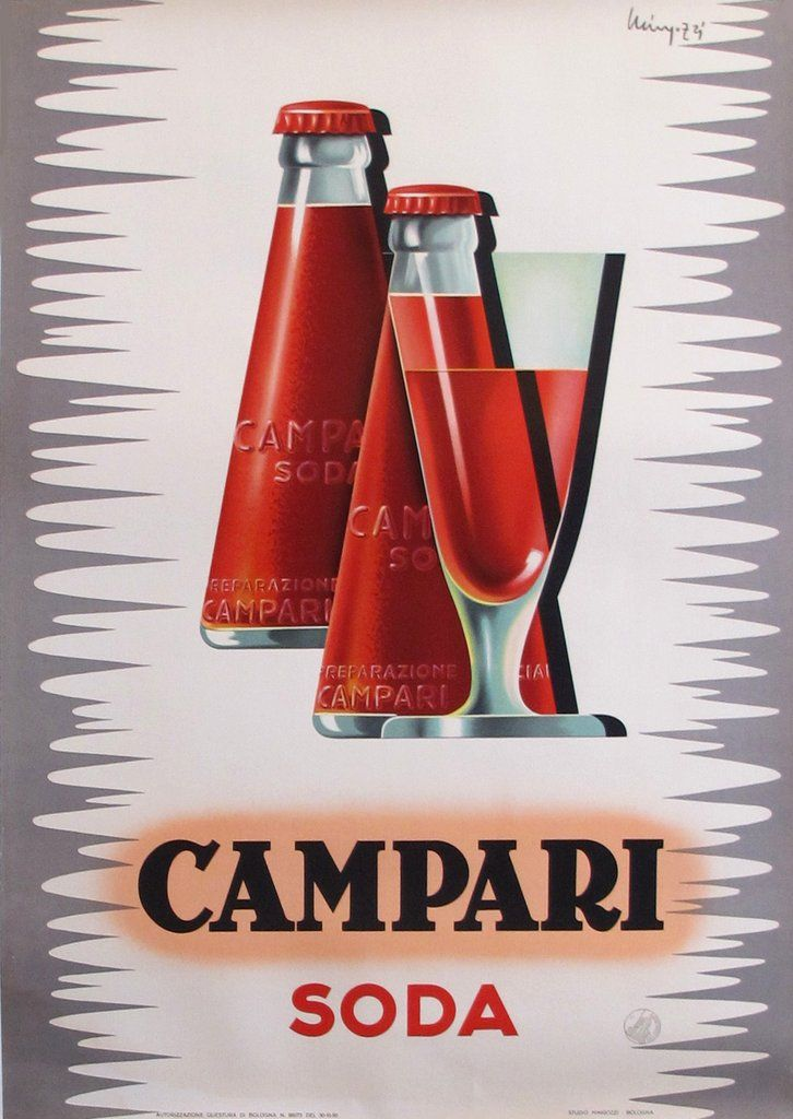 1950s Italian Campari Soda Drink Advertisement