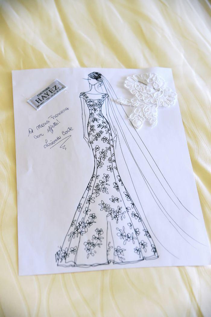 figurino-abito-sposa-couture-hayez-atelier http://www.couturehayez.com/blog/maria-francesca-e-andrea-le-nozze-nella-romantica-isola-di-lubience-in-croazia/
