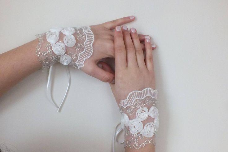 guanti matrimonio guanti da sposa, guanti di pizzo,avorio : Mezziguanti, guanti di weddingstore