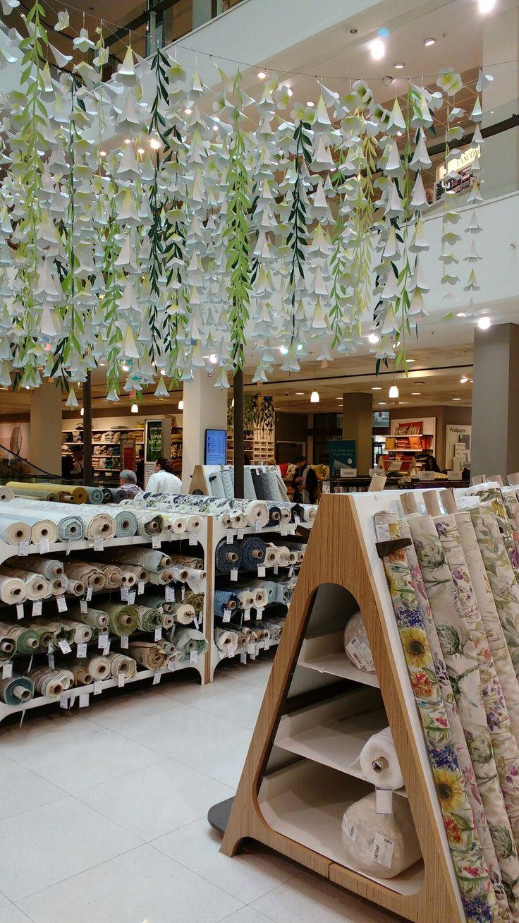 The fabulous Peter Jones fabric department, London.
