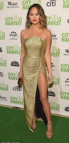 Model look: The Sports Illustrated Swimsuit beauty, who is married to John Legend, oozed b...