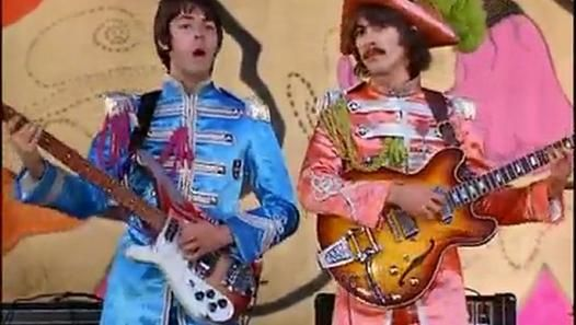 Hello Goodbye Friday 10 November 1967-The Beatles filmed promotional footage for their forthcoming single Hello, Goodbye at London's Saville Theatre on this day.