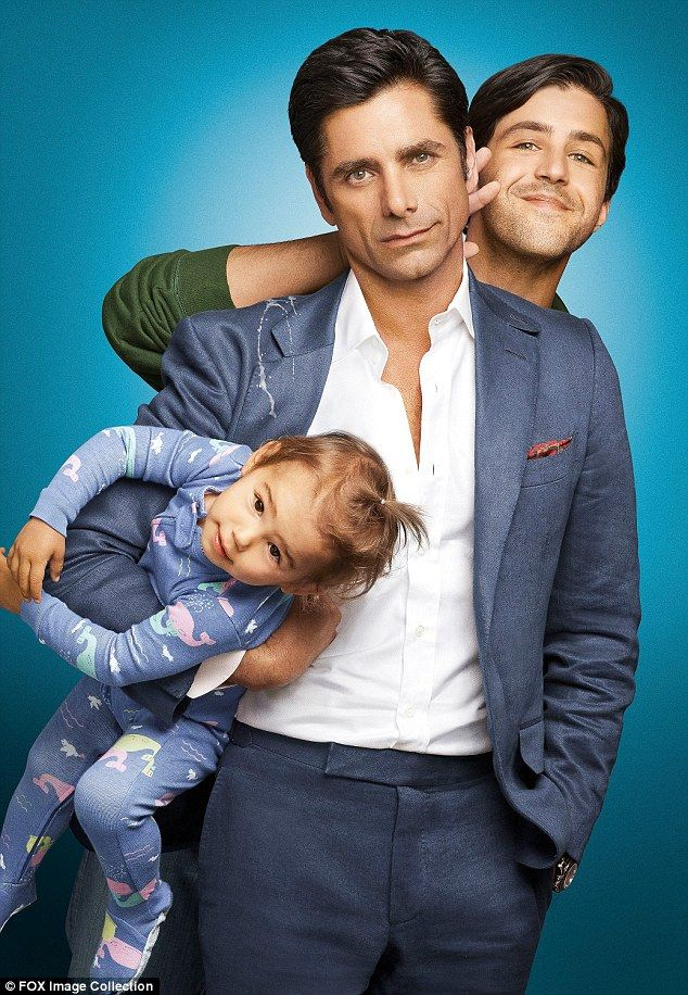 Grandaddy cool: On Grandfathered he plays a bachelor who discovers he has a son and granddaughter from a brief fling 25 years ago