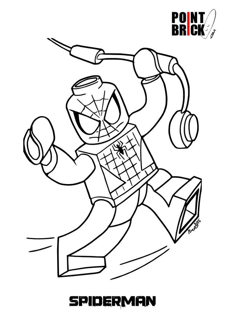 point brick blog disegni da colorare lego spiderman e la pony farm - Hero Factory Coloring Pages Furno