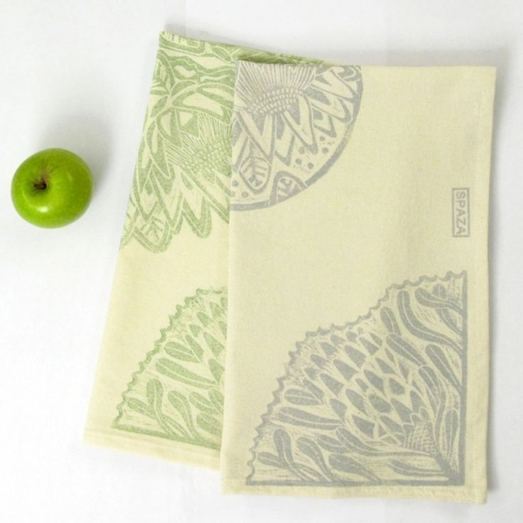 Tea Towel Protea Print by SpazaStore on Etsy