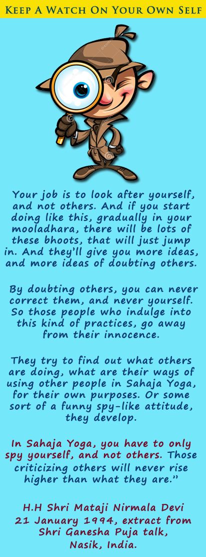 Keep a check on yourself!