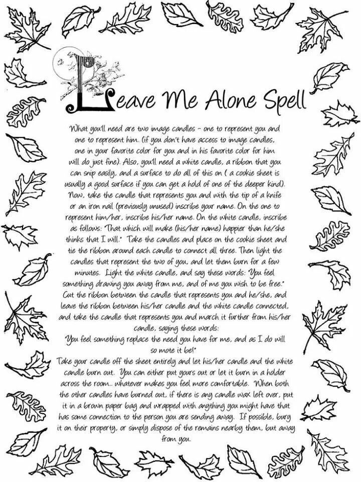 Away Spell Paganism Wicca Book Of Shadows Wiccan