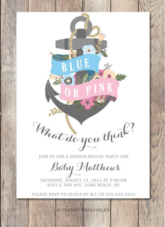 317130400bf44b9d0bee6e50aa5dba3a gender reveal party invitations nautical invitations best 25 gender reveal party invitations ideas on pinterest,Baby Gender Reveal Invitations