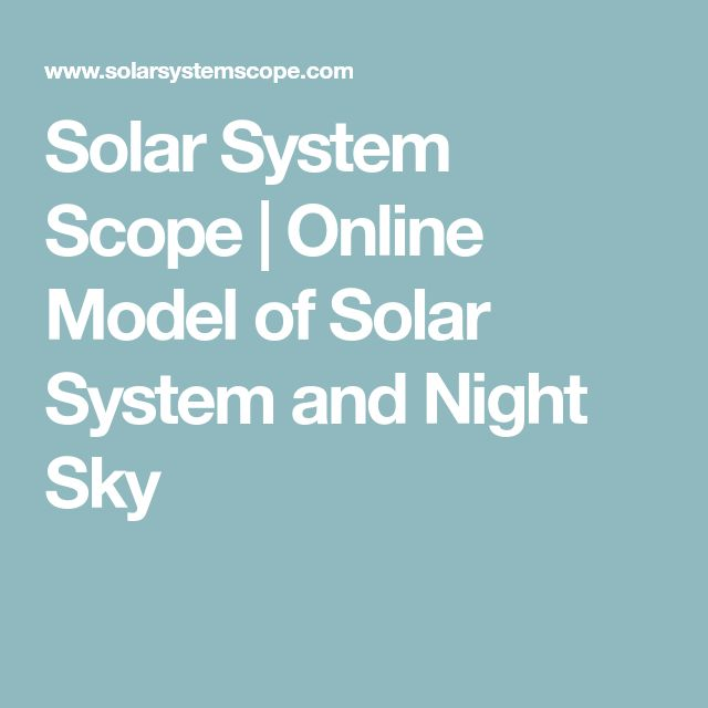 Solar System Scope | Online Model of Solar System and Night Sky