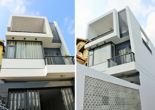 Nhà phố 80 m2 xây hết 1,3 tỷ đồng - VnExpress Đời sống