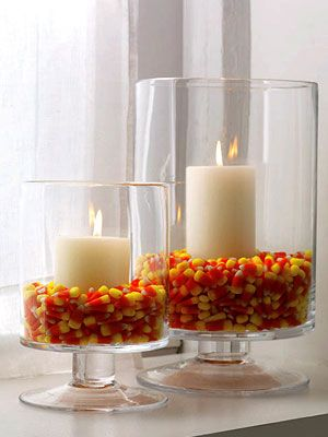 love love love this but i would seriously only do this if the candy corn was not Brach's ... i could never look at all that candy corn in the eye and not want to rearrange the display every other minute : )