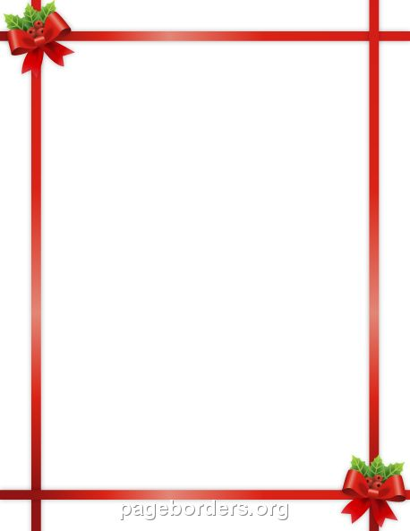 758 best page borders and border clip art images on for Free christmas border templates