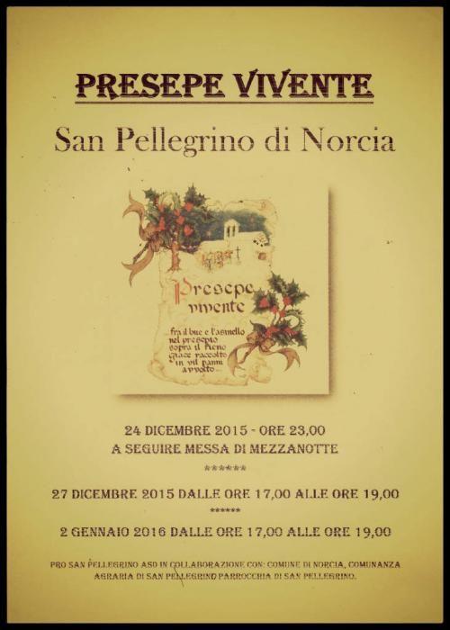 Programma del Presepe Vivente di San Pellegrino e numeri vincenti estrazione della Lotteria del 23 gennaio 2016