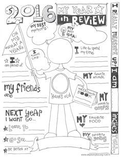 2016 Year In Review Printable