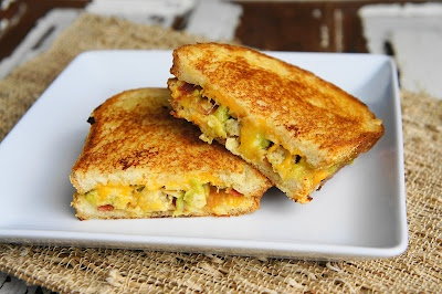 Comfort food! Bacon Guacamole Grilled Cheese Sandwich