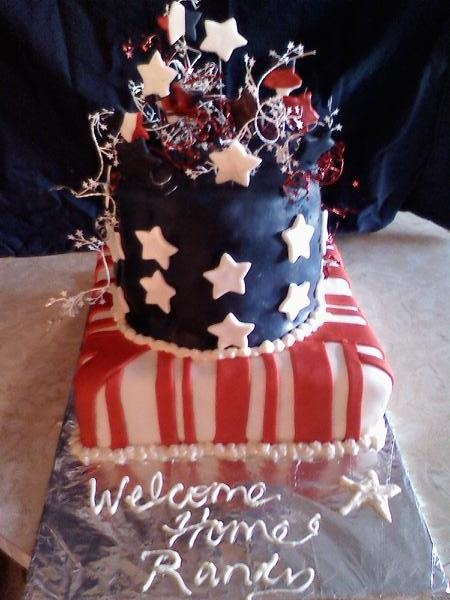 Welcome home cake desserts pinterest cake marine for Welcome home soldier decorations