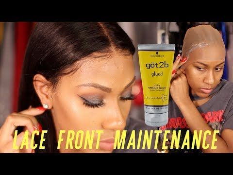 SECRETS REVEALED! LACE FRONTAL WIG MAINTENANCE AND INSTALL! NO GLUE - YouTube