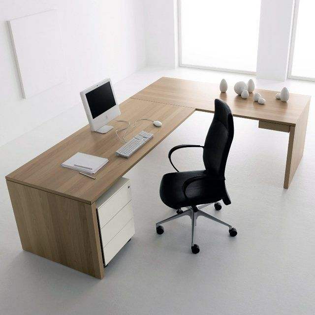 Benefits Of Using A Modern L Shaped Office Desk In Offices Office Desk Designs Office Table Design White Desk Office