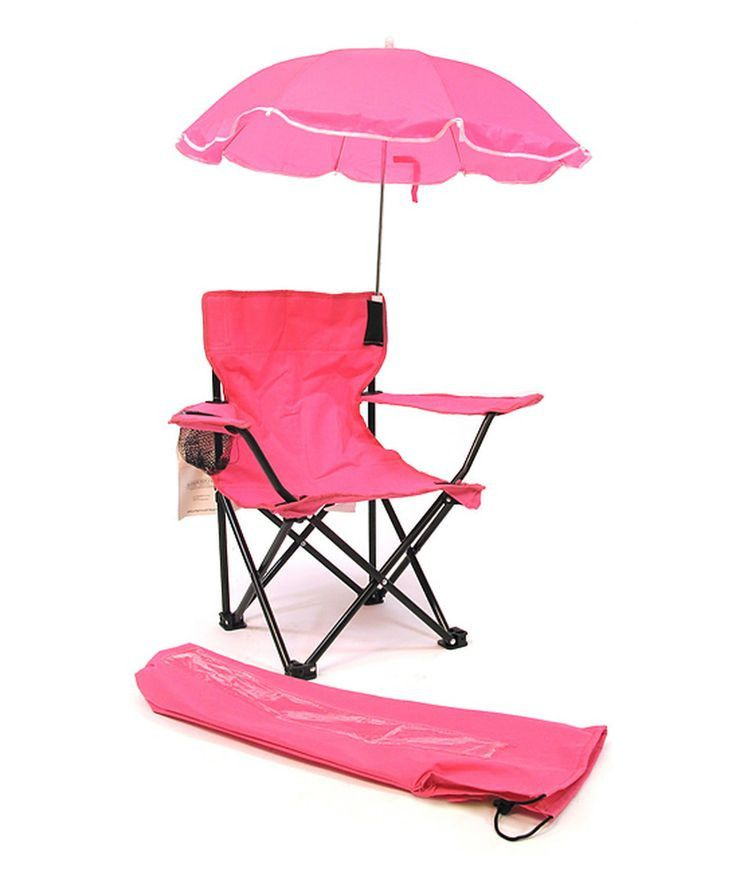 Kids Beach Baby Umbrella Camp Chair, Pink Only 10 In Stock Order Today! Product Description: Beach Baby Kids Camp Chair with Carry Umbrella and matching tote bag Key Features: - Complete folding camp