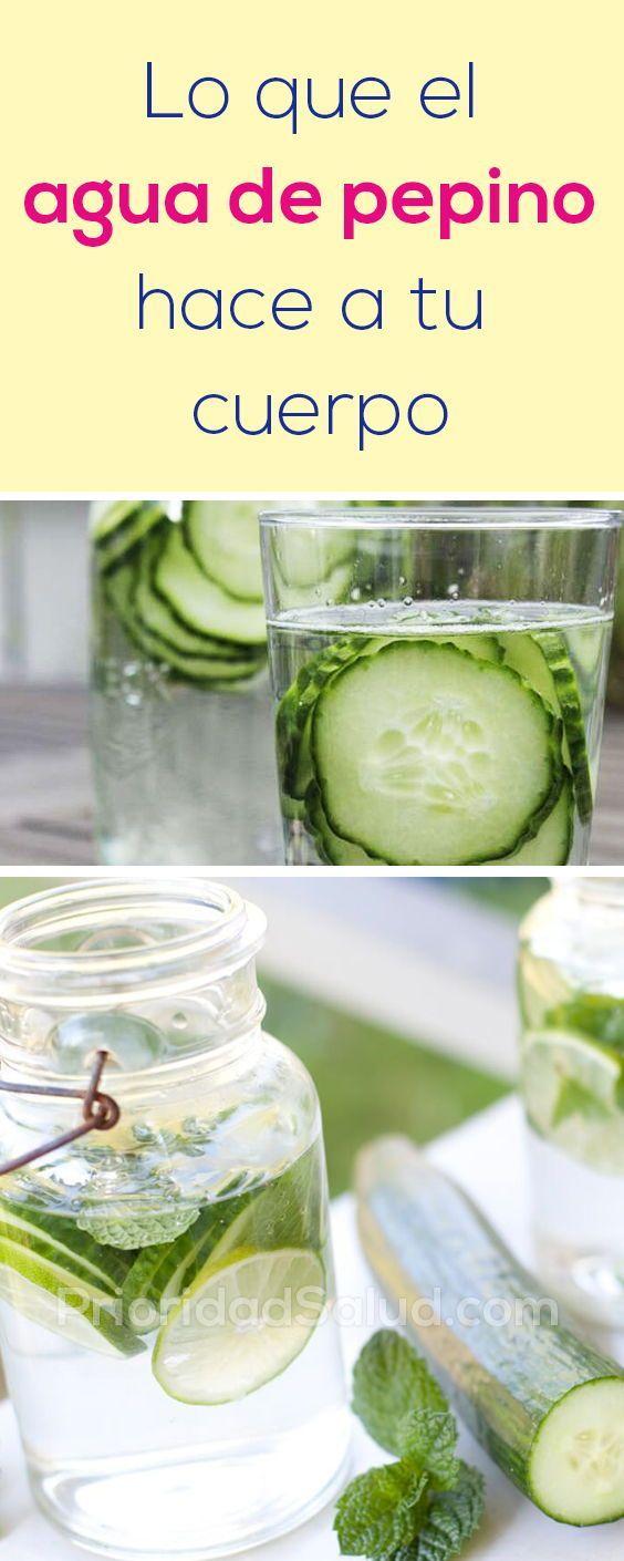 agua con pepino para perder peso