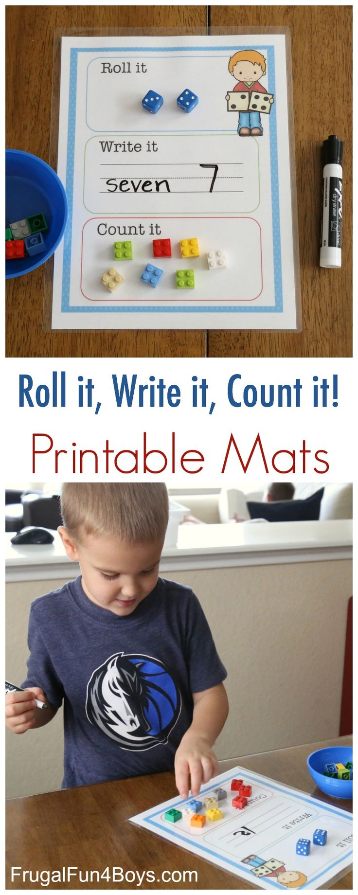 Here's a math activity that is guaranteed to be a hit! Print these Roll it, Write it, Count it mats – see the link at the bottom of the page. My 4.5 year old has been loving this, especially the marker part and the erasing part. And the M & M's that we used for...Read More »