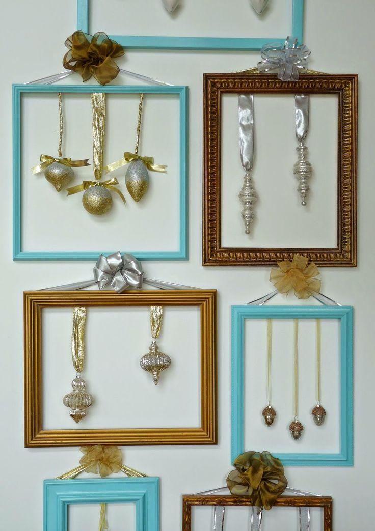 Framed Christmas ornaments