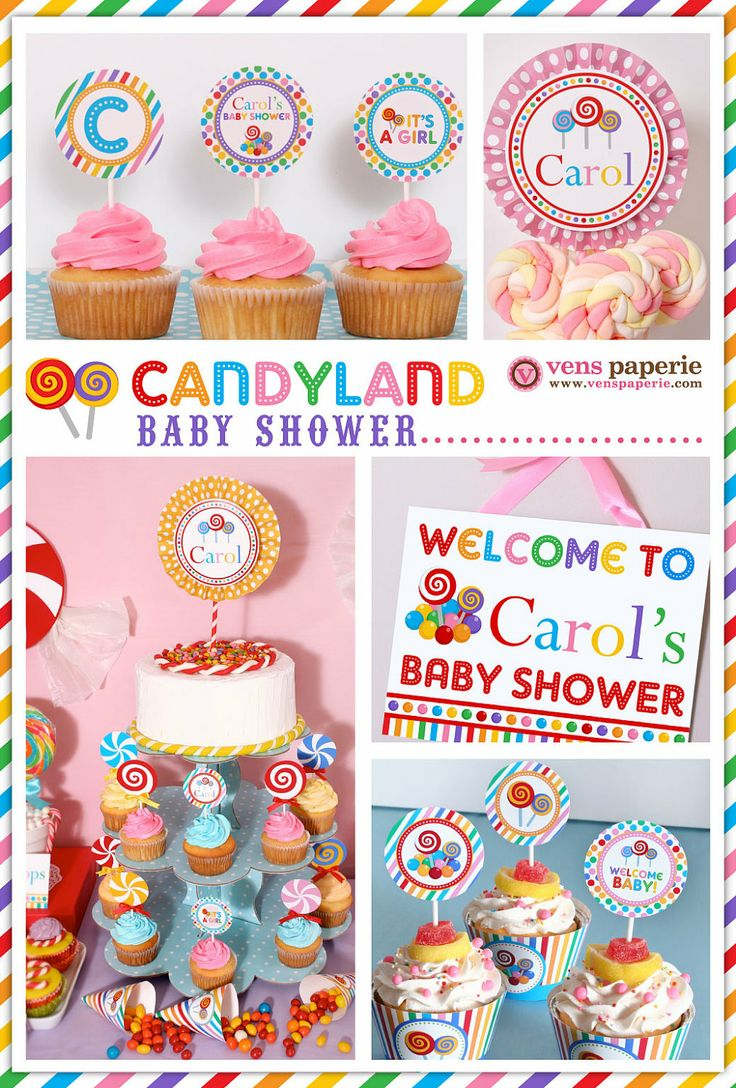 Candy Land Baby Shower Package Personalized FULL by venspaperie