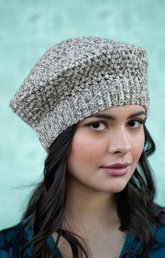 Tivoli Beret - Padrão Livre Crochet - (joann.lionbrand)