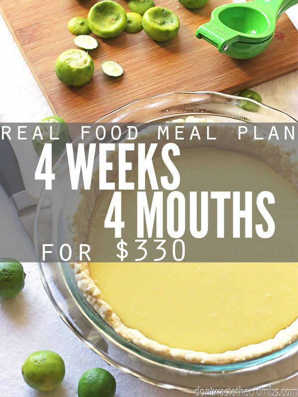Frugal Real Food Meal Plan: January 2016