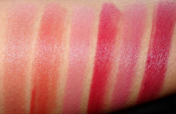 Dhc Premium Lipsticks Swatches From The Left Rose Gold