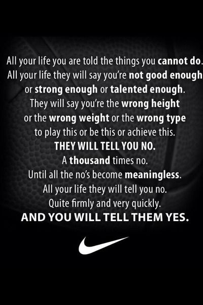 25+ best Nike inspirational quotes on Pinterest | Nike sayings ...