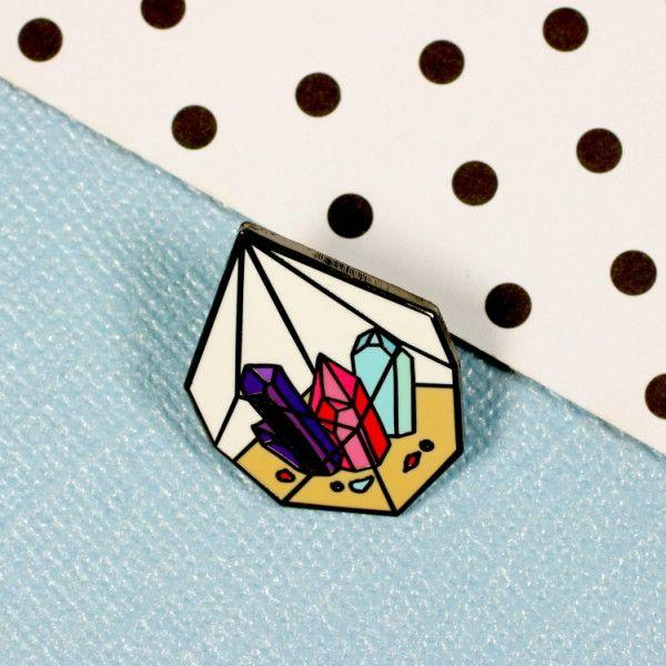 Crystal Terrarium Enamel Pin | Punky Pins – punkypins